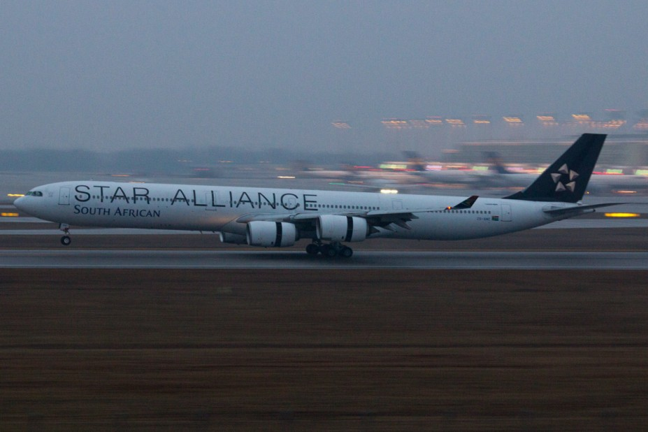 South African Airways Airbus A340-642 - ZS-SNC - Star Alliance